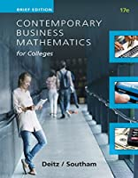 Contemporary Business Mathematics for Colleges: Brief Course