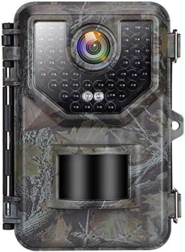 MIWKCAM Fotocamera Caccia 2.7K 20MP Fototrappola Infrarossi Invisibili Movimento Attivato 0.2s a Scatto Modalita' Notturna con 2.4 Pollici Schermo LCD Impermeabile IP66 Camera per la Caccia