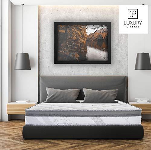 Luxury Literie | Colchón ViscoPlus 140 x 190 cm | Espuma con memoria de forma óptima | Sistema de espuma HR | 10 zonas de confort | Independencia de dormir | 26 cm (+/- 2 cm) | Todas las dimensiones
