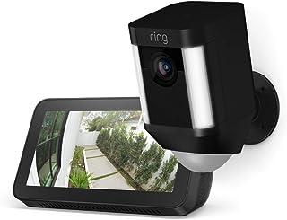 Ring Battery Spotlight Camera (Black) with Echo Show 5 (Black)