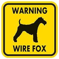 WARNING WIRE FOX マグネットサイン:ワイヤーフォックス(イエロー)Mサイズ