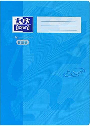 Oxford by ELBA 400103401 Schnellhefter aus festem Karton mit Soft Touch-Oberfläche für Format DIN A4 in der Farbe Meerblau