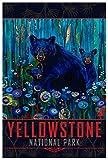 Yellowstone Black Bear Haven Giclée Kunstdruck Poster von