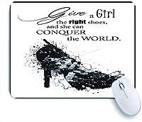 ECOMAOMI 可愛いマウスパッド ファッション女性の靴の引用 滑り止めゴムバッキングマウスパッドノートブックコンピュータマウスマット
