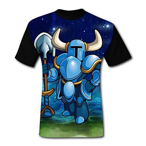 maichengxuan T-Shirt Short Sleeve Shovel-K-Knight Tee Shirt Fashion Tshirt for Men&Women Black