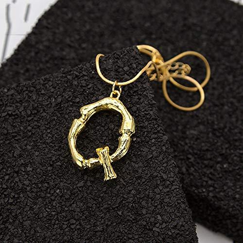 Mallallah halsketting 26 letters alfabetisch A-Z bedel bamboe hanger naam initiaal sieraden goud dames heren touw ketting verguld
