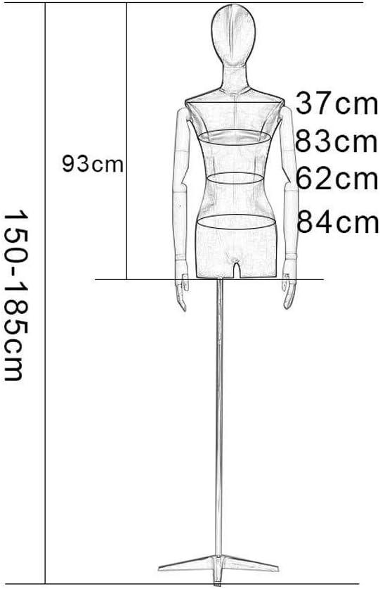 Tailors Dummy jurk vormen Vrouwelijke Mannequin Mode Studenten Display Bust Afneembare Hoofd Gouden Plated Arm Gebruikt Voor Kleding Display Stand mannequin volledige lichaam A