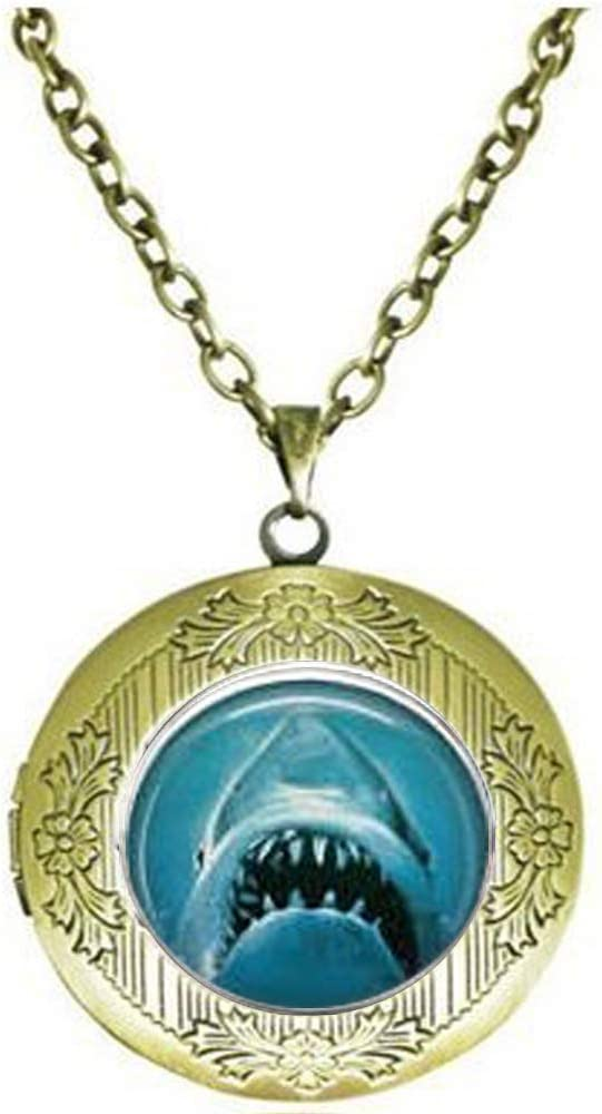 Jaws Movie Poster Locket Necklace