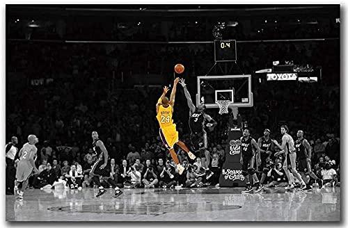 shjklb Negro y Amarillo NBA Match Jugador de Baloncesto Kobe Bryant Carteles Rompecabezas de Papel 1000 Piezas Juguetes para Adultos Juego de descompresión (38x26cm)