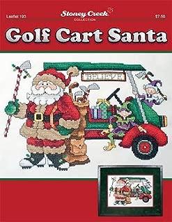 Golf Cart Santa (LEaflet 193) Cross Stitch Chart and Free Embellishment