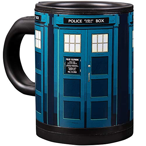 Doctor Who Tardis Self Stirring Travel Coffee Mug - Automatic Self Mixing & Spinning Cup - 12 oz