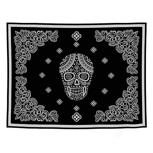 THEYANG Tapestry Tapiz Pared Decoracion Serie Mandala(Calavera 310) 150x200cm Colgante de Pared Ropa de Cama Dormitorio Decoración Estera de Yoga Alfombras Manta de Playa Tarot Hippie Indio Boho