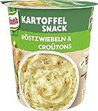 Knorr Snack Bar Kartoffel Snack Röstzwiebeln & Croûtons mit nachhaltig angebauten Kartoffeln, 53 g 1 Portion