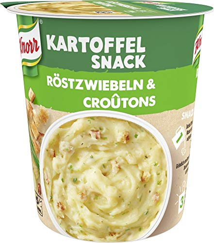 KnorrSnack Bar Kartoffelpüree mit Röstzwiebel & Croutons, 8er Pack (8 x 53 g)