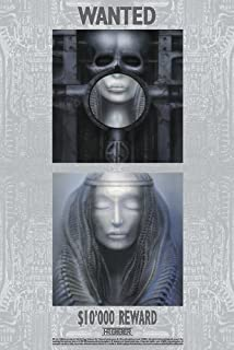 HR GIGER - ELP WANTED HUGE LAMINATED ART POSTER