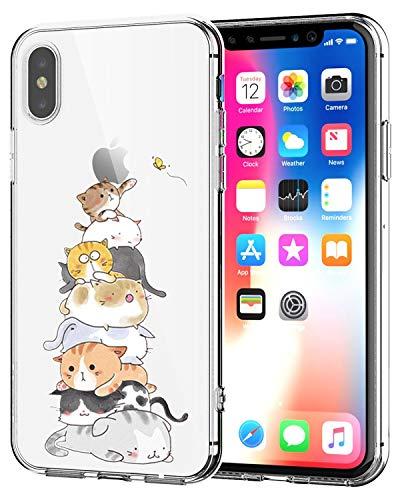 Caler Cover Compatibile per iPhone SE 2020, iPhone 8/iPhone 7 Custodia Protettiva in Vetro Temperato 9H 【AntiGraffio】 + Cornice Paraurti in TPU Silicone Morbido 【Antiurti】 3D Design Vogue Ultra Chic