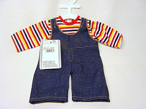 Schwenk Puppenkleidung, Puppen Jeans Latzhose, für 36 - 40 cm Puppen