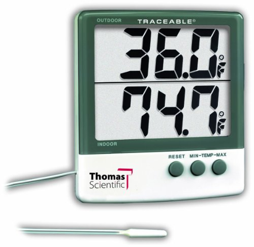 Thomas Traceable Big-Digit Thermometer, -58 to 158 degree F, -50 to 70 degree C