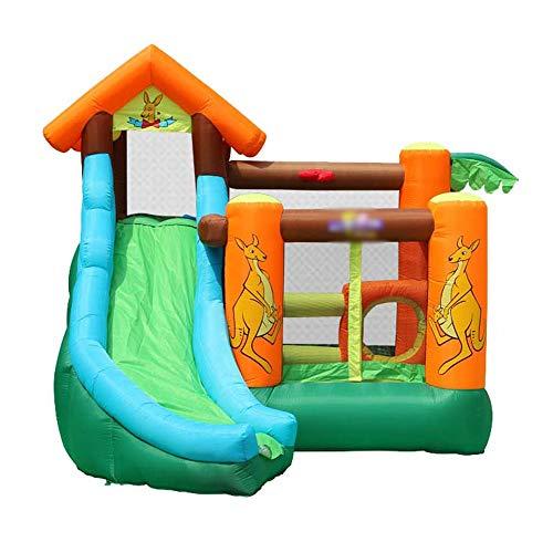 YM963 Castillo Hinchable con el Ventilador, PVC Paño casa de la Despedida tobogán for niños y Adultos (385 * 300 * 290cm) Aire Libre y Deportes