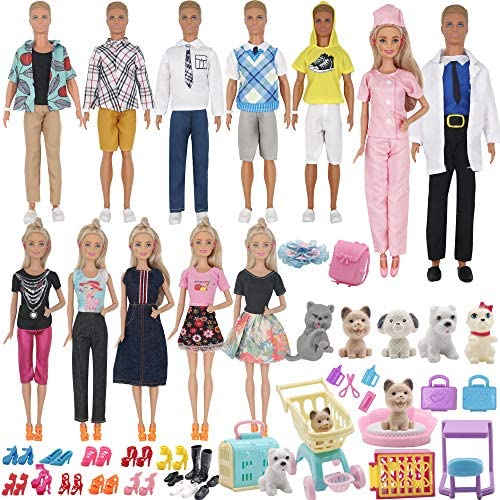 ZTWEDEN 85Pcs Doll Clothes and Accessories for 12 Inch Boy Dolls and Girl Dolls Pet Care Set product image