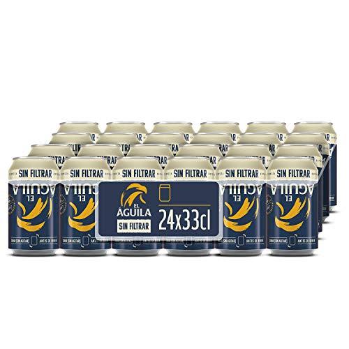 El Aguila Cerveza Especial Sin Filtrar Pack 24 latas x 330 ml - 7920 ml