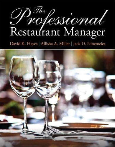 Professional Restaurant Manager, The (Myculinarylab)