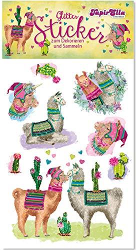 Neu 2019: Glitter-Sticker * SÜSSE Lamas * von Lutz Mauder | 72302 | als Mitgebsel für Kinder | Lama Aufkleber zum Kindergeburtstag & Basteln