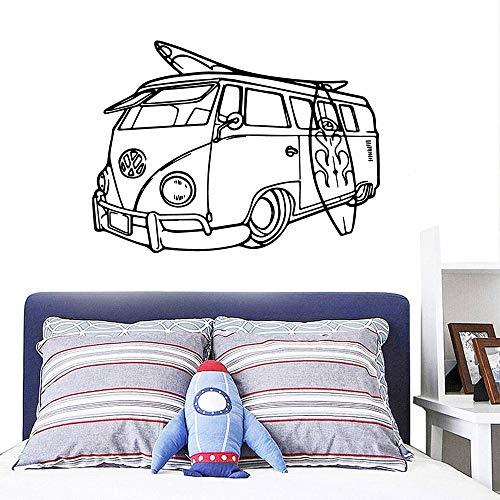 mlpnko Cartoon Bus Vinyl Tapete Rolle Dekoration Möbel Kinder natürliche Dekoration wasserdichte Wandaufkleber,CJX13057-28x37cm