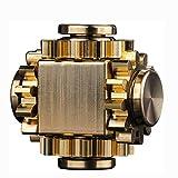 LEERAIN Metal Fidget Juguete de Aluminio, Mini Engranaje Metal Spinner Spinner Fidget Toys Pure Brass, Toys Hand Spinner Foco Foco Foco Toy Stress Reliever Regalo