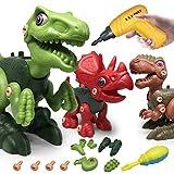 LAPPAZO Dinosaurios Juguetes para Niños, DIY Montaje y Desmontaje de Dinosaurios con Taladro Eléctrico Bricolaje, Regalos Creativos Stem Juguetes Educativos para Niños