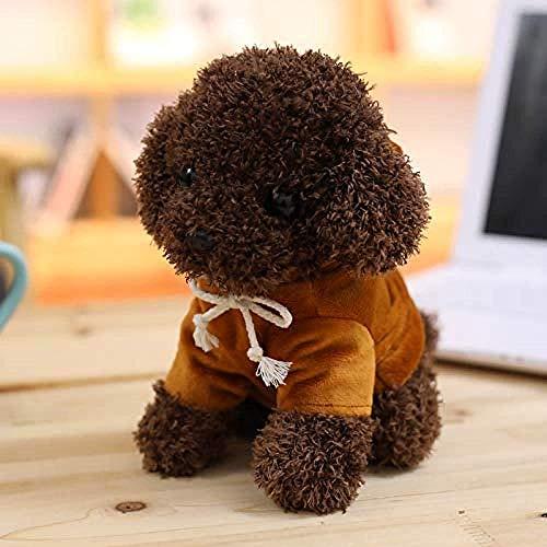 INGFBDS simulazione teddy dog peluche bambola cucciolo di cane ragdoll regalo di compleanno per bambini caffè 20 cm