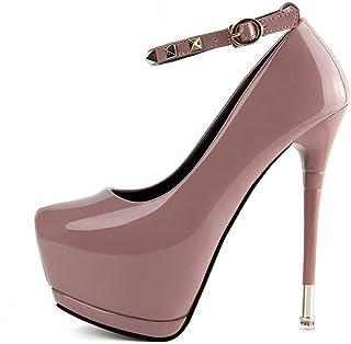 Ying-xinguang Shoes Fashion Platform with Rivets High Heels Wedding Shoes Women's High Heel Comfortable