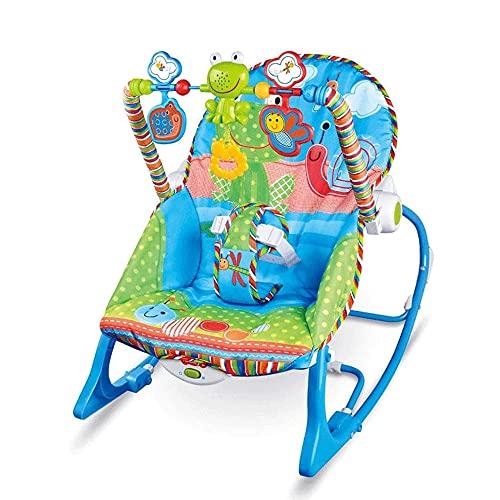 Silla Hamaca MultifuncióN Para BebéS Con MelodíAs Musicales, BalancíN EléCtrico Para Cuna Para BebéS, BalancíN Con VibracióN Relajante Para BebéS Y NiñOs PequeñOs Con 3 Juguetes Colgantes