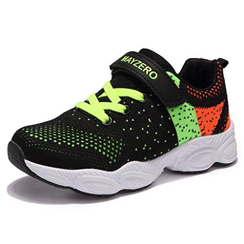 MAYZERO Unisex-Kinder Sneakers Laufen Schuhe Sportschuhe Sneakers Jungen M?dchen Low-Top Sneakers (27 EU, Gr¡§1n#1)