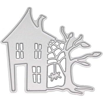Haunted House Metal Cutting Dies Die Cut Stencil Embossing Folder Scrapbooking