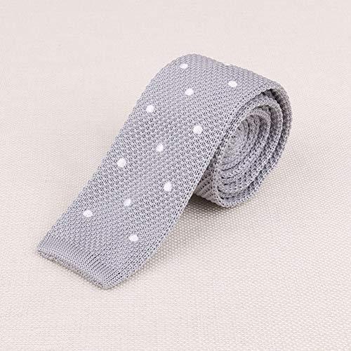 LXTMWSJ Krawatte Heiß gestrickte gestickte Krawatte Schmales Skinnynecktie 5 cm Flacher Hauptanker-Stern-Krawatte-Mann-Zusatz-Krawatten-Hochzeitsfest-Bankett