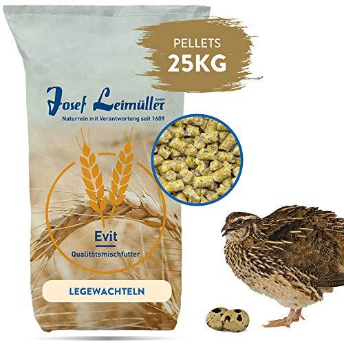 Leimüller Wachtelfutter 25kg | Alleinfuttermittel für Legewachteln | schmackhafte Pellets für erhöhte Legeleistung | ohne Gentechnik | hergestellt in Österreich | Schutz vor Parasiten
