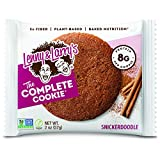 Lenny & Larry's The Complete Cookie, 2oz. Snack Size, Snickerdoodle, Soft Baked, 8g Plant Protein, Vegan, Non-GMO , Pack of 12 from Lenny and Larrys