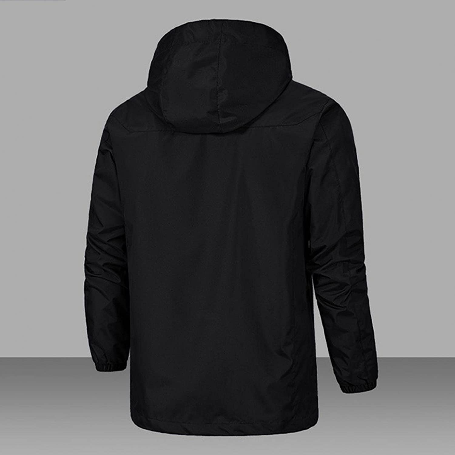 LEIYAN Mens Cargo Military Hooded Jackets Zip Up Long Sleeve Heavyweight Windproof Thick Warm Coat Bomber Outerwear