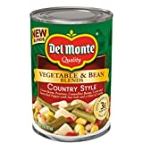 Del Monte Vegetable & Bean Blends, Country Style, 14.5-Ounce Can, 12 Count