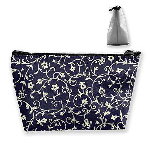 Sac de rangement avec motif floral vintage pour papiers peints - Réglable pour pinceaux de maquillage, produits de toilette