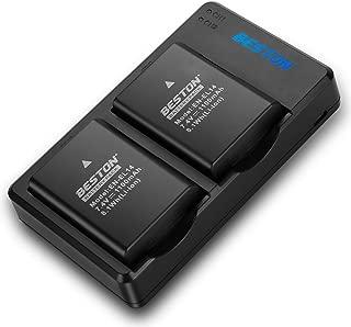 BESTON EN-EL14 EN EL14a EN-EL14a Camera Battery Pack and Dual USB Charger for Nikon D3100 D3200 D3300 D3400 D3500 D5100 D5200 D5300 D5500 D5600 DF Coolpix P7000 P7100 P7700 P7800 Camera Battery (2pcs)