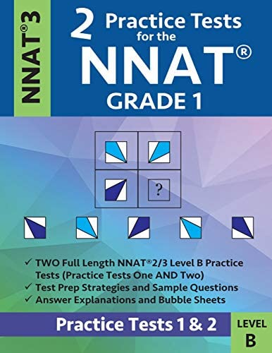 2 Practice Tests for the NNAT Grade 1 NNAT 3 Level B Practice Tests 1 and 2 NNAT 3 Grade 1 Level product image