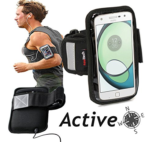 Navitech wasserdicht Schwarz Sport/Fitness/Jogging/Radfahren/Skifahren Armband Tasche Oberarmtasche Schutz Hülle Etui Case für Sony Xperia Z3+