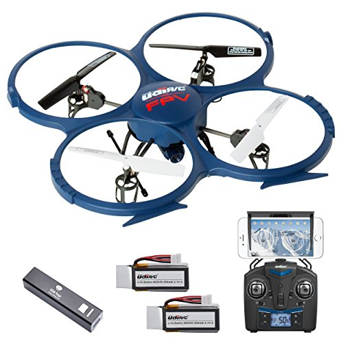 Force1 Udi U818A Drone with Camera Live Video Wifi Fpv and Return Home Altitude Hold VR Comp Compatible Quadcopter Renewed