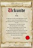 Urkunde personalisiert Geschenk Karte zur Jugendweihe Pergament A4 Papier Motive