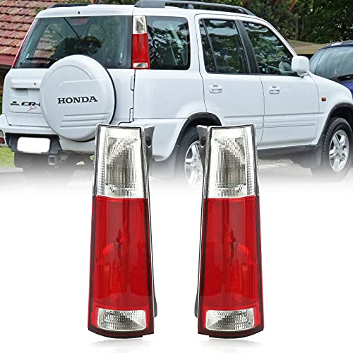 USR DEPO 97-01 CRV Tail Lights - JDM Style Red / Clear Lens Rear Tail Lamps Set (Left + Right) Compatible with First Gen 1997-2001 Honda CR-V