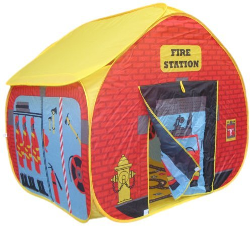 pop-it-up Childrens Pop Up Play Tent with a Unique Printed Play Floor Toy Play Tent/ Playhouse/ Den for Boys