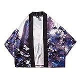 RHH Shop Impresión Japonesa del Dragón Chino Koi Kimono del Traje De La Manga De Siete Puntos (Color : 7046, Size : L)