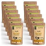 Cherky Eco Beef Jerky Miel y Mostaza. Snack Saludables Orgánico de Ternera Premium sin aditivos y sin azúcar. 12ux30g